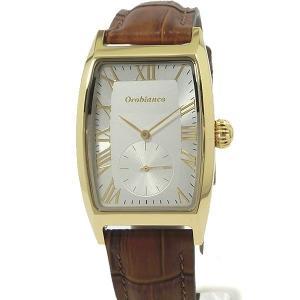 Orobianco オロビアンコ メンズ 腕時計 トノー型 DELL NONNO OR-0065-1 イエローゴールド/ブラウンレザー 新品アウトレット|pre-ma