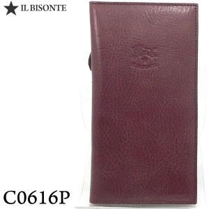 イルビゾンテ 財布 IL BISONTE 長財布 二つ折り C0616 P 885 PLUM/プラム ジップ式小銭入れ付|pre-ma