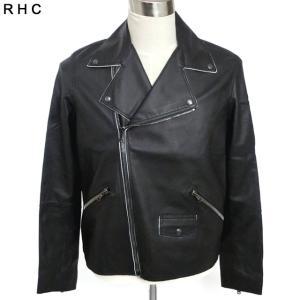 ロンハーマン Ron Herman ライダースジャケット メンズ レザー ブラック RHC サイズ限定(表記 M)新品アウトレット pre-ma