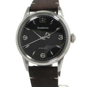 Orobianco オロビアンコ メンズ 腕時計 OR0073-9 自動巻 ブラック ブラウンレザー 未使用 新品アウトレット-S|pre-ma