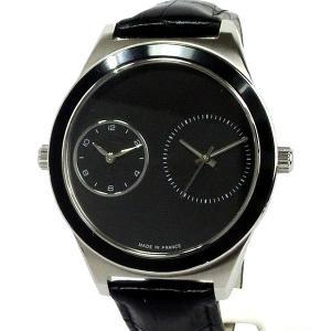 ハンティングワールド メンズ腕時計 HWD020BK ツインタイム フランス製 44mm ブラック 新品 正規品|pre-ma