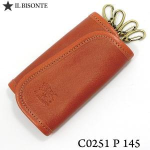 イルビゾンテ IL BISONTE キーケース 4連 C0251 P 145 Caramel/キャラメル 定形外郵便OK|pre-ma