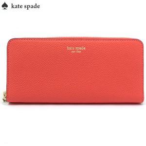 ケイトスペード KATE SPADE 長財布 ラウンドファスナー PWRU7100 801/Peachy  Margaux Slim Continental Wallet|pre-ma