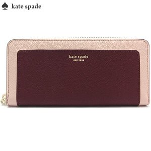 ケイトスペード KATE SPADE 長財布 ラウンドファスナー PWRU7771 626/Cherrywood Multi  Margaux Slim Continental Wallet|pre-ma