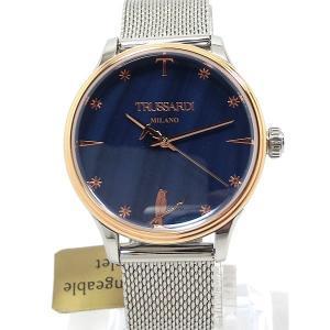 トラサルディ TRUSSARDI レディース 腕時計 2453130505 34mm ブルーフェイス 替えベルト付  新品アウトレット pre-ma