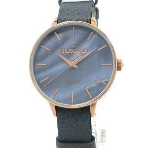 トラサルディ TRUSSARDI レディース 腕時計 2451120506 36mm ブルーフェイス 替えベルト付  新品アウトレット|pre-ma