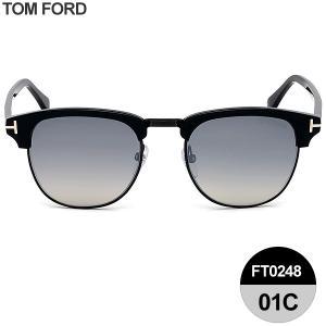 TOM FORD トムフォード サングラス HENRY ウェリントン TF0248 01C シャイニーブラック/スモーク 51-21-145|pre-ma