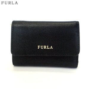 FURLA フルラ 財布 三つ折り ショート  BABYLON S TRIFOLD / 872817 PR76 B30 O60  ブラック|pre-ma