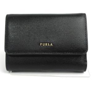 FURLA フルラ 財布 三つ折り ショート 新ロゴ BABYLON S COMPACT TRIFOLD / PCZ0UNO B30000 O6000  ブラック 193723|pre-ma