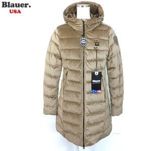 Blauer USA ブラウアー レディース ダウン ジャケット ベロア ロングコート 19WBLDK03009 005482 341|pre-ma