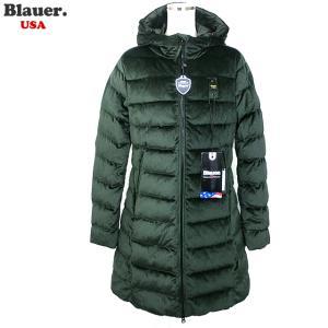 Blauer USA ブラウアー レディース ダウン ジャケット ベロア ロングコート 19WBLDK03009 005482 667|pre-ma