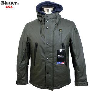 Blauer USA ブラウアー メンズ ジャケット コーティングクロス 防水 中綿 19WBLUC02378 005594 670 カーキ サイズ(M) BX55|pre-ma