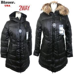 Blauer USA ブラウアー レディース ダウン ジャケット ロングコート リアルファー付  19WBLDK03087 005050 999|pre-ma