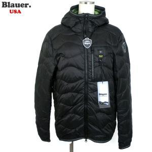 Blauer USA ブラウアー メンズ ライトダウン ジャケット 軽量 18SBLUC03047 004938 999VO ブラック BX49|pre-ma
