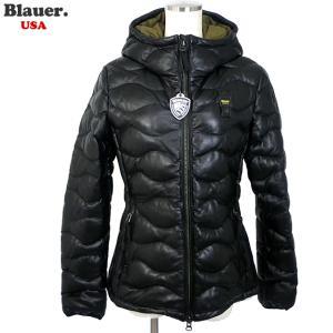 Blauer USA ブラウアー レディース レザー ライダース ジャケット 19WBLDL01168 005519 999 ブラック 羊革 中綿|pre-ma