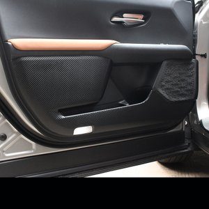 新品 レクサス UX200 UX250h 専用 ドアカバー キックマット PU革 カーボン調 4PC...