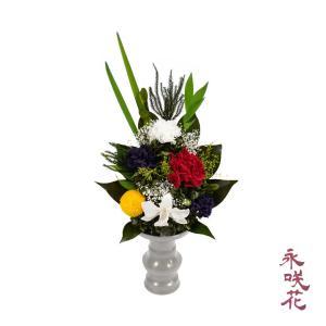 プリザーブドフラワー 仏花 永咲花 PSYH-02011 仏壇用 御供 蘭|preciousflower