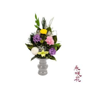 プリザーブドフラワー 仏花 永咲花 PSYH-02081 仏壇用 御供 蘭 preciousflower