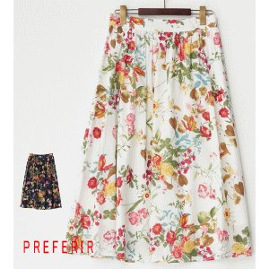 花柄ギャザースカート(10921)|preferir