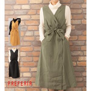 トレンチ風ジャンパースカート(10949)|preferir