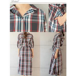 チェックシャツ ワンピース(10977) preferir 02