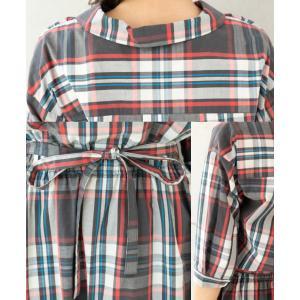 チェックシャツ ワンピース(10977) preferir 03