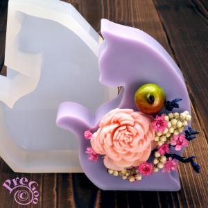 アロマ ワックス サシェ 用 シリコンモールド / 置き型 猫ねこ       (アロマストーン 石鹸型 石けん型 ソープモールド ネコ)