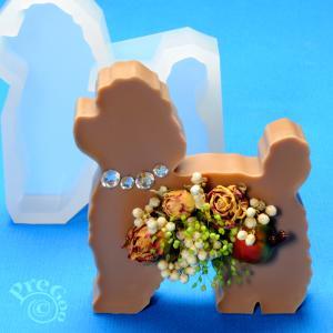 アロマ ワックス サシェ 用 シリコンモールド / 置き型 犬       ( アロマストーン 石鹸型 石けん型 ソープモールド イヌ いぬ わんこ トイプードル)