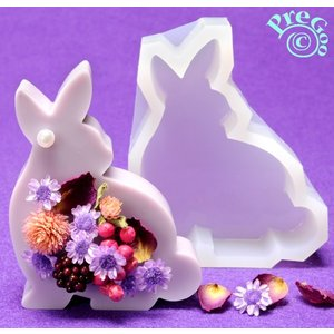 アロマ ワックス サシェ 用 シリコンモールド / 置き型 ウサギ兎2       ( アロマストーン 石鹸型 石けん型 ソープモールド ウサギ ラビット 兎)