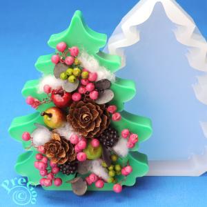 アロマ ワックス サシェ 用 シリコンモールド / 置き型 ビッグ クリスマスツリー 2       (アロマストーン 石鹸型 石けん型 ソープモールド もみの木)