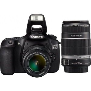中古 1年保証 美品 Canon EOS 60D ダブル EF-S 18-55mm 55-250mm
