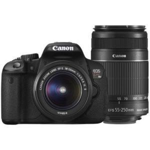 中古 1年保証 美品 Canon EOS Kiss X6i EF-S 18-55mm 55-250mm