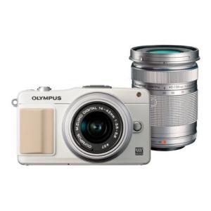 中古 1年保証 美品 OLYMPUS PEN mini E-PM2 ダブルズームキット ホワイト