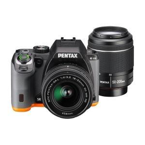 PENTAX K-S2 ダブルズームキット ブラック×オレンジ ◆業界最長1年間の中古保証付き!全品...