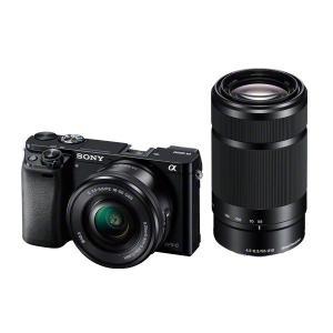 SONY α6000 ダブルズームキット PZ 16-50mm + 55-210mm ブラック IL...