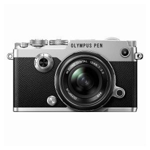 OLYMPUS PEN-F 12mm F2.0 レンズキット シルバー ◆業界最長1年間の中古保証付...