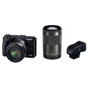 Canon EOS M3 ダブルズームEVFキット ブラック ◆業界最長1年間の中古保証付き!全品送...