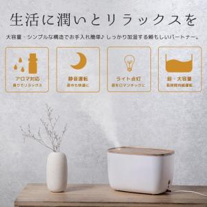 加湿器 卓上 超音波式 静音設計 大容量 LEDライト 空焚き防止 アロマディフューザー 空気浄化 持続保湿 オフィス 寝室 肌荒れ対策 ドライアイ対策 ギフト|premium-interior|02