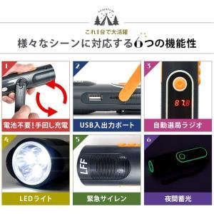 LEDランタン 懐中電灯 USB 充電式 LEDライト 防災グッズ 停電対策 地震 防災ラジオ 多機能 手回し充電 電池不要 携帯充電器 スマホ充電 夜間蓄光|premium-interior|03