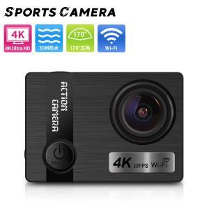 アクションカメラ 4K ウェアラブルカメラ スポーツカメラ 防水ケース 水中カメラ ドライブレコーダ...