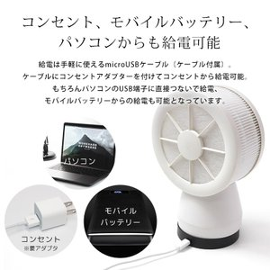 扇風機 卓上 USB 静音 熱中症対策 サーキュレーター 空気清浄機 マイナスイオン ミニファン ペット用 花粉対策 PM2.5 HEPAフィルター 空気浄化 premium-interior 14