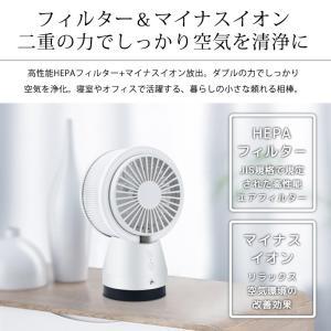扇風機 卓上 USB 静音 熱中症対策 サーキュレーター 空気清浄機 マイナスイオン ミニファン ペット用 花粉対策 PM2.5 HEPAフィルター 空気浄化 premium-interior 03