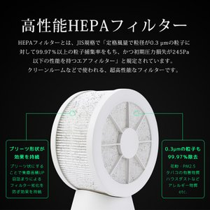 扇風機 卓上 USB 静音 熱中症対策 サーキュレーター 空気清浄機 マイナスイオン ミニファン ペット用 花粉対策 PM2.5 HEPAフィルター 空気浄化 premium-interior 04