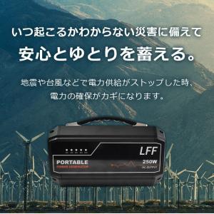 バッテリー充電器 ポータブル電源 防災グッズ 蓄電池 発電機 自動車用 家庭用 停電 大容量 250Wh 67500mAh 車中泊 ソーラー アウトドア キャンプ バッテリー|premium-interior|10