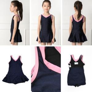 スクール水着 女の子 セパレート ワンピース 練習用 学校用 水着 キッズ 子供 日焼け防止 UVカット スカート 名札 スイムウェア ジュニア|premium-interior|17