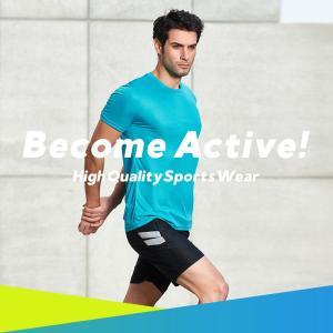 トレーニングウェア メンズ 上下 ランニングウェア フィットネス スポーツウェア UVカット 大きいサイズ M L XL 2XL 3XL 半袖 吸汗速乾 UPF50+ 2019 新作|premium-interior|02