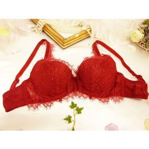 CHASNEY BEAUTY / チェスニービューティ (セール) 送料無料 Muse プッシュアップブラジャー Cb001RD 赤|premium-lingerie