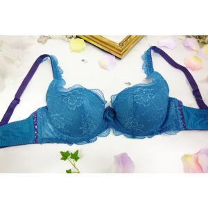 (40%OFFセール) チェスニー ビューティ CHASNEY BEAUTY  Sweet Musk Rose パテッドブラジャー Cb018BL-ef 青|premium-lingerie