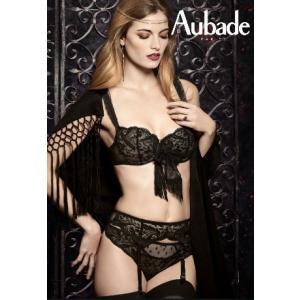 (セール)  オーバドゥ ブラ 下着 Aubade  Tickle Belle(ティックル ベレ) 1/2カップノンパテッドブラジャー Au134NO-abcd BD14 黒 ギフト プレゼント インポート|premium-lingerie