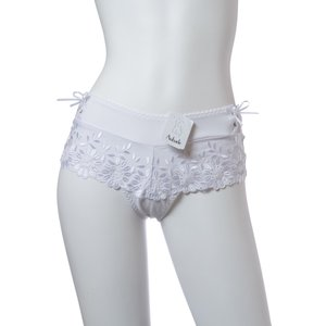 ( 期間限定60%セール) 国内正規品  Aubade/オーバドゥ Amazonian Dream(アマゾニアン ドリーム) ボクサーショーツ Au152WH AF70 白 2(M) 3(L) 4(XL)|premium-lingerie